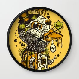 A Disorientated Duck Goes For A Stroll Wall Clock