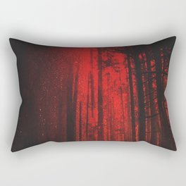 Crimson Vancouver Forest Rectangular Pillow