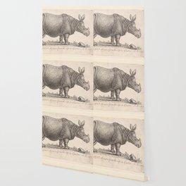 Vintage Rhino Wallpaper