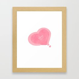 Twice what is love Framed Art Print