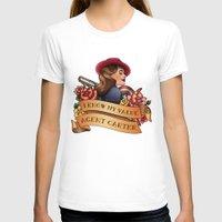 agent carter T-shirts featuring Agent Carter Vintage Tattoo Dark by Bonnie Detwiller