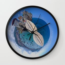Photoesphere Tiny Planet Port Sea Wall Clock