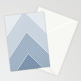 Shades of Blue Abstract geometric pattern Stationery Cards
