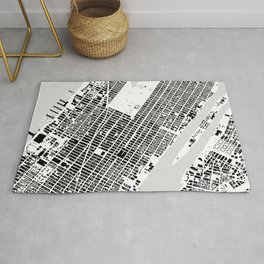 New York building city map Rug