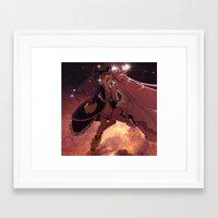 madoka magica Framed Art Prints featuring Madoka Magica Walpurgisnacht Kiss by Erin Ptah