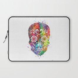 Sugar Skull Watercolor Print Wall Poster Home Decor Laptop Sleeve