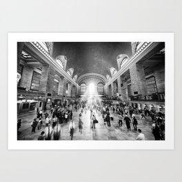 Grand Central Daylight (classic black & white edition) Art Print