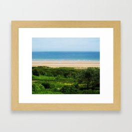 Vibrant Beach Framed Art Print