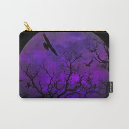 Purple Gothic Moon Carry-All Pouch