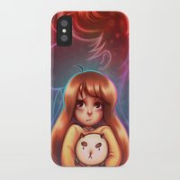 bee and puppycat iPhone & iPod Cases featuring Bee and Puppycat by Dani Taillefer