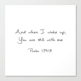 Psalm 139:18 Canvas Print