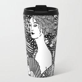 Klimt. Lady with fan. 1918 Travel Mug