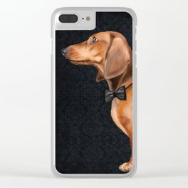 Elegant dachshund. Clear iPhone Case