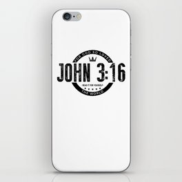 For God So Loved the World - John 3:16 Bible Verse iPhone Skin