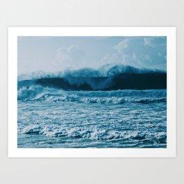 Lost In Waves Art Print