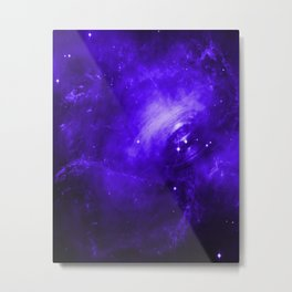 Crab Nebula Ultraviolet Metal Print