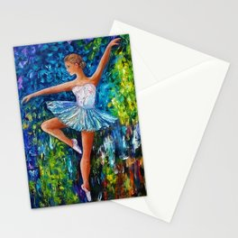 Dance In The Rain Of Color Stationery Cards