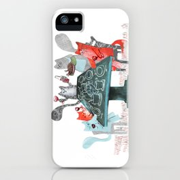 Cat Dinner Party iPhone Case
