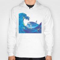 hokusai Hoodies featuring Hokusai Rainbow & Globefish  by FACTORIE