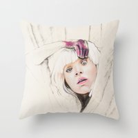 chandelier Throw Pillows featuring Chandelier by Dibujados
