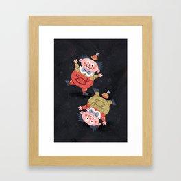 Tweedledee and Tweedledum - Alice in Wonderland Framed Art Print