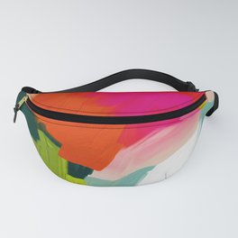 abstract pink art Fanny Pack