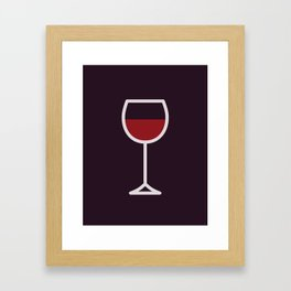 Wine - Icon Prints: Drinks Series Framed Art Print