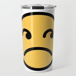 Smiley Face   Annoyed Rolling Eyes   Mouth Sad Travel Mug