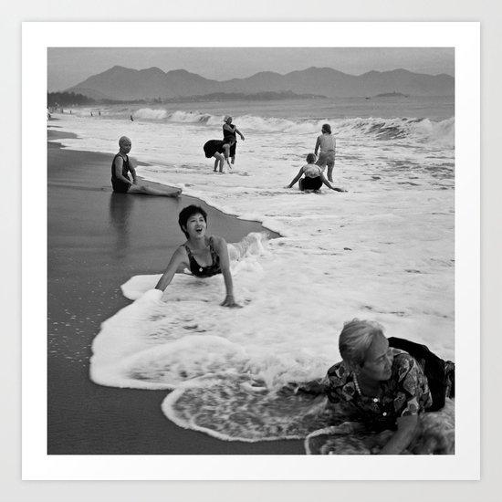 Bathing Woman in Vietnam - analog  Art Print