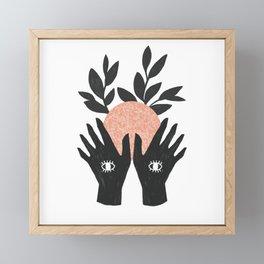 of her, of earth Framed Mini Art Print