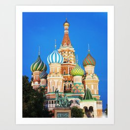 Colorful Moscow church Art Print