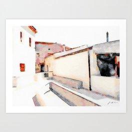 Tortora's buildings Art Print