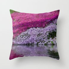 A Colorful River Throw Pillow
