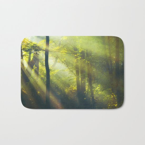 Rays - Morning Light in a Forest Bath Mat