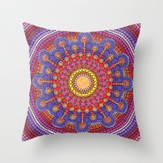 Jewel Drop Mandala Throw Pillow