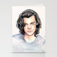 coconutwishes Stationery Cards featuring Harry Watercolors II by Coconut Wishes