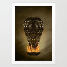 Burning senses on paranoia Art Print