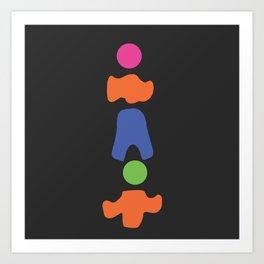 \\ S h A p E s // onB L A C K Art Print