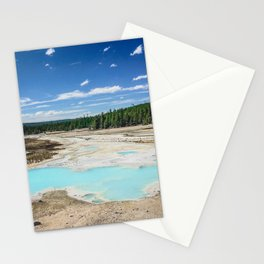 Teal Pools, Norris Geyser Basin, Yellowstone National Park Stationery Cards