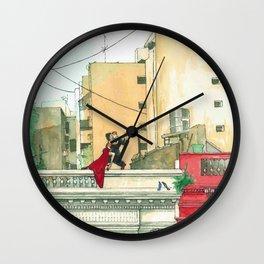 Calle Salguero, a rooftop tanda Wall Clock
