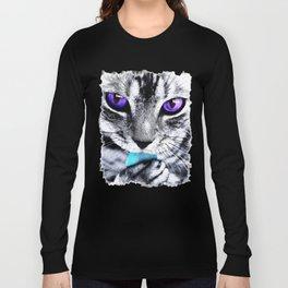 Purple eyes Cat Long Sleeve T-shirt