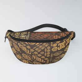 Ethnic African Pattern- browns and golds #10 Fanny Pack