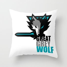 Great Grey Wolf Throw Pillow
