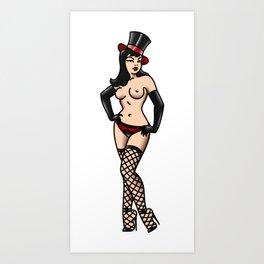 Burlesque Nude Pin-up Art Print