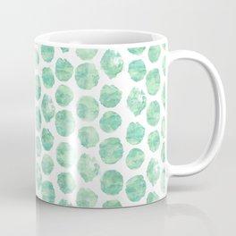Mint Green Watercolor Polka Dots Coffee Mug