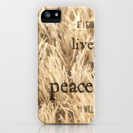 Live in Peace iPhone Case