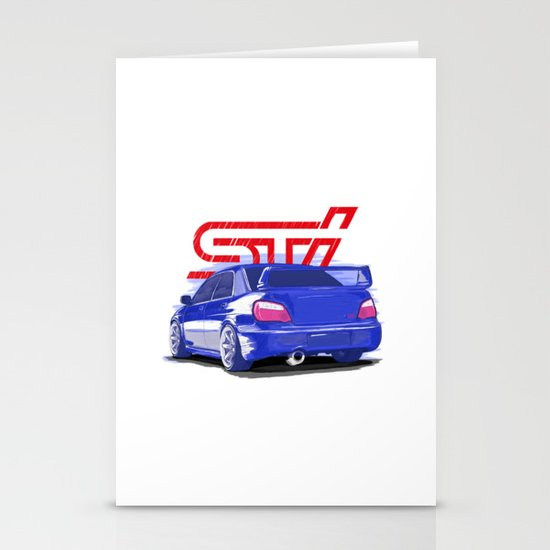 Subaru WRX STI Stationery Cards