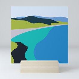 Blue Green Beach Mini Art Print