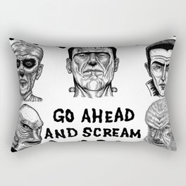 Go Ahead and Scream Rectangular Pillow