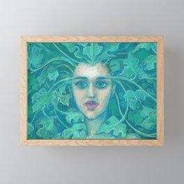 Green Lady Framed Mini Art Print